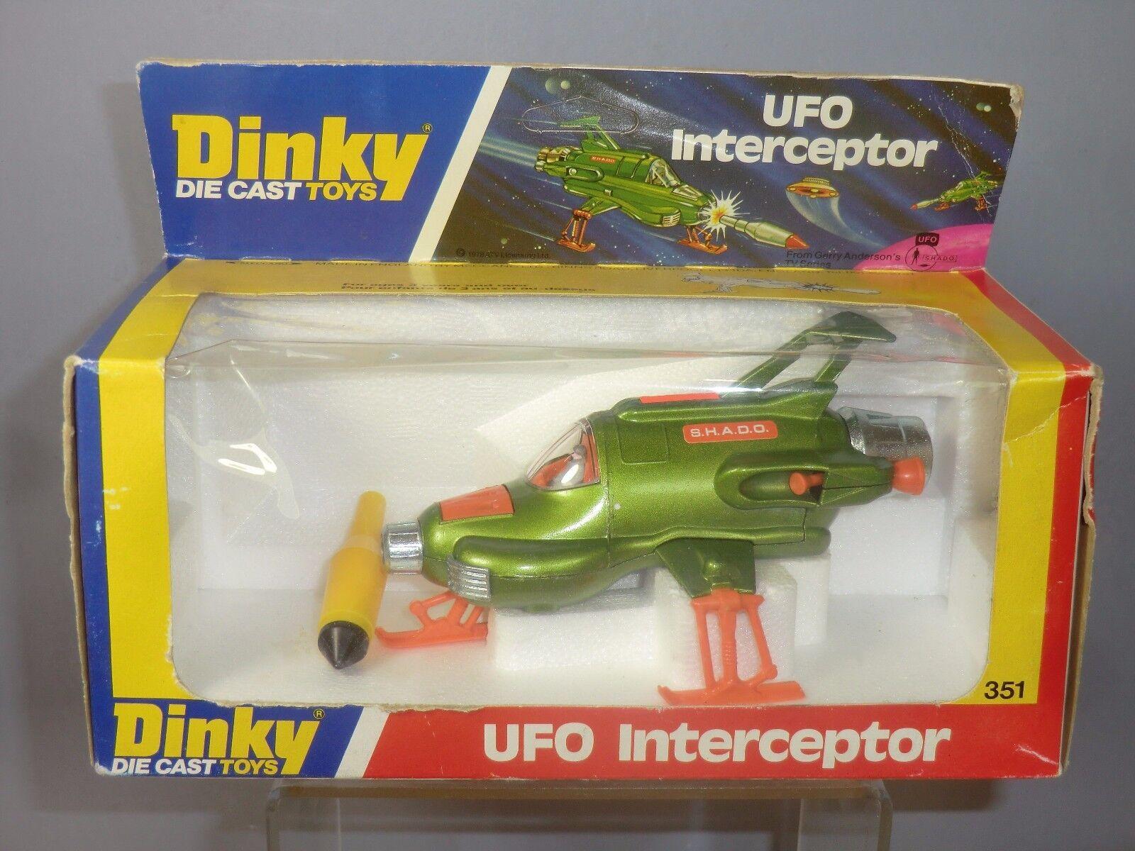 DINKY TOYS MODEL No.351 U.F.O. INTERCEPTOR   HANGING BOX  VERSION  VN MIB