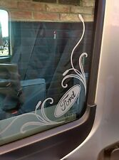 ford transit van  side glass corner sticker window  decal sport st 12""