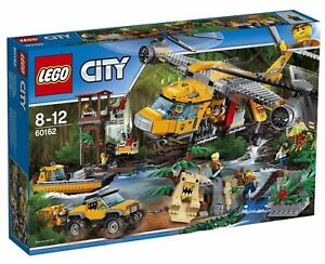 deac3a670c80 Image is loading LEGO-City-60162-Jungle-Air-Drop-Helicopter-BNIB-