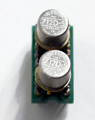 LOT OF 5 TELEDYNE 712D-26 MINI TO-5 DPDT RELAYS 26 VDC REMOVED FROM PC BOARDS