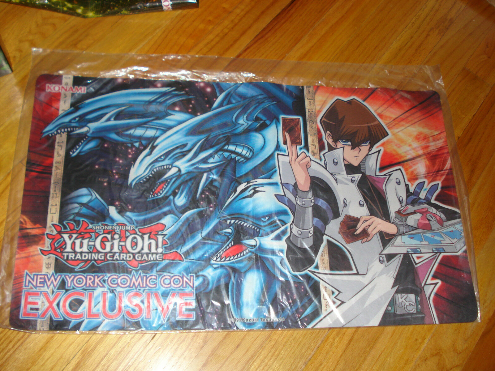 Yu-Gi-Oh bluee Eyes Ultimate Dragon Kaiba NYCC NYCC NYCC 2015 comic con exclusive playmat fe01c7