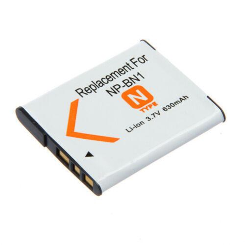 Batterie 630mAh NP-BN1 pour Sony Cybershot T DSC-T110 T99 TX10 TX7 W310 W690 WX