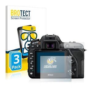 3x Schutzpanzer Glasfolie für Nikon D3500 9H Panzerfolie Schutz Glas Folie