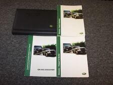 2003 Land Rover Discovery Owner Owner's Operator Guide Manual Set SE HSE 4.6L V8