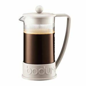 bodum brazil french press coffee maker 8 cup 1 0l 34oz off white 699965066987 ebay. Black Bedroom Furniture Sets. Home Design Ideas