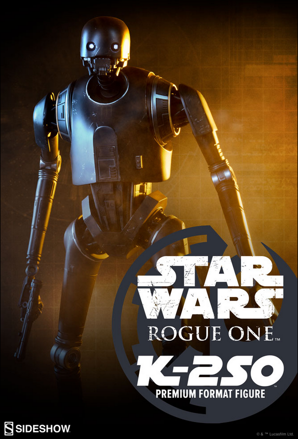 Star Wars Sideshow Collectibles Rogue One K-2SO 1 4 Premium Format Statue