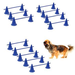 6-8-10-Barrels-Bar-Dog-Agility-Garden-Jump-Obedience-Project-Training-Equipments