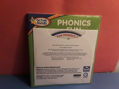 Active Minds: Phonics Fun (cd-rom, 2001, Macromedia) New