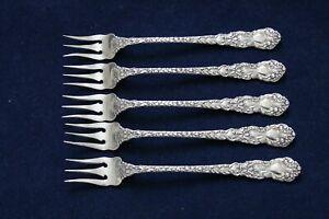 5-Gorham-Sterling-Silver-Imperial-Chrysanthemum-Pattern-Cocktail-Fork