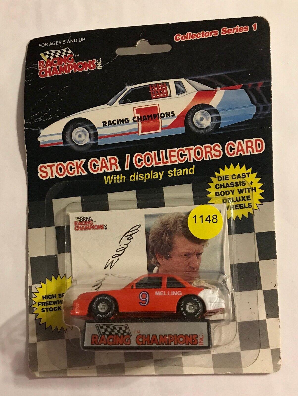 Parte inferior plana 1989 Bill Elliott Melling Racing campeón de carreras coche