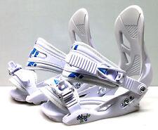 New Firefly C2 Cruising snowboard bindings junior white small size 13.5-6.5 blue