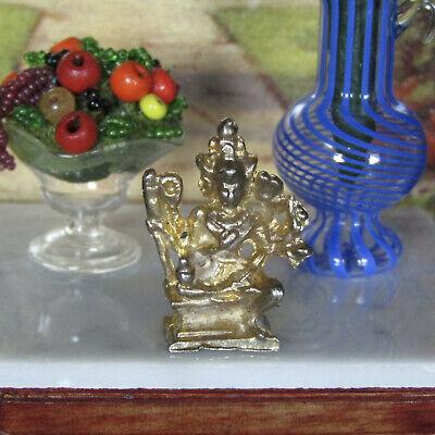 1:12 Scale Dollhouse Miniature Tiny Brass Horse Figurine #RUN185