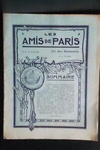 Rivista per Lettera I Amis Di Parigi N° 1 Mese 1911 Manager Claude Simond ABE