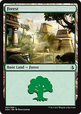 Magic the Gathering FOIL FOREST x10 cards mtg basic land lot mana