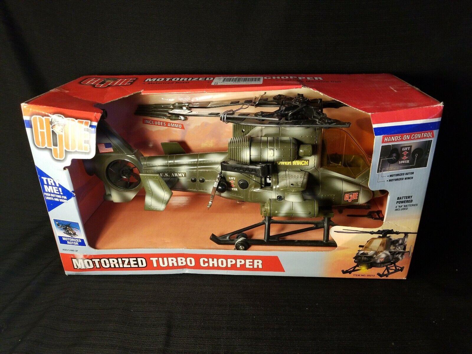 Helicóptero Motorizada 2002 Gi Joe Vehículo Helo Chopper Cabrestante Vintage Hasbro