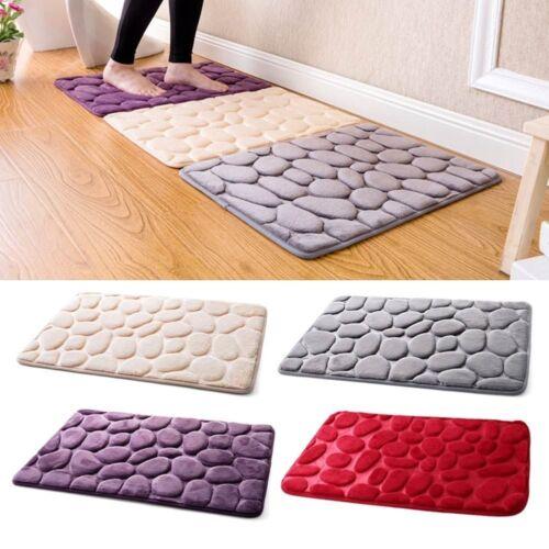 Absorbent Non-slip Cobblestone Mat Door Rug Kitchen Bathroom