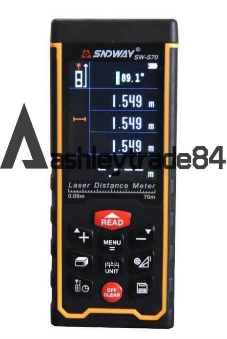 Ángulo SW-S70 USB Medidor de Distancia Láser Color rechargeabel rechargeabel rechargeabel telémetro 70M Nuevo 1672b1