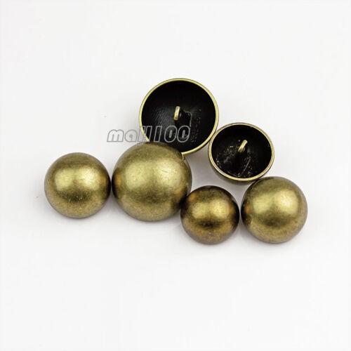 12pcs Mushroom Round Metal Shank Buttons Coat Suit Sewing Embellishment Button