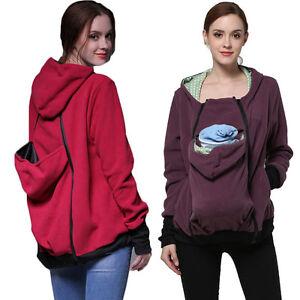 Babywearing Fleece Baby carrier hoodie Kangaroo coat/jacket for MOM and BABY,