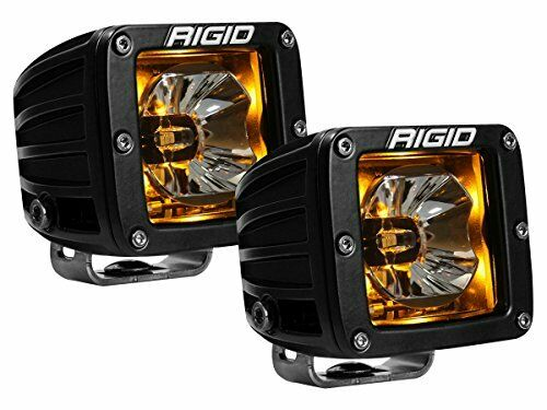 Rigid Industries 20204 Radiance Pod Amber Rétroéclairage Black Housing-Paire