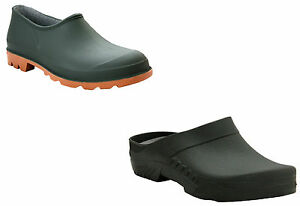 MENS WOMENS SLIP ON GARDENING WELLIES WATERPROOF RAIN LADIES GARDEN CLOGS SHOES