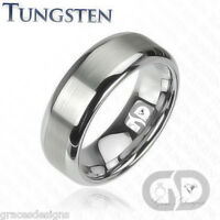 Tungsten Carbide 8mm Men's Ring Anniversary Engagement / Wedding Band Sizes 8-16