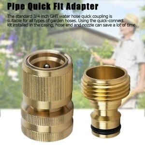 Garden-Hose-Quick-Connect-Solid-Brass-Quick-Connector-Fitting-Hose-UK-H5M3