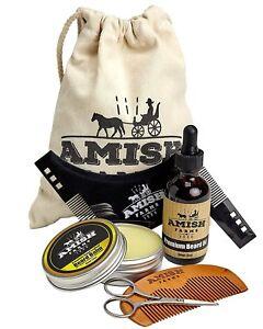 Amish-Farms-Beard-Grooming-Kit-6-Piece-Set-Leave-In-Beard-Balm-Wooden