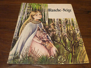 Rare-Soft-Cover-French-Book-Blanche-Neige-Snow-White