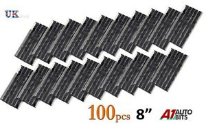 100-x-Tubeless-Tire-Tyre-Puncture-Repair-Kit-8-034-Strips-Plug-Car-Van-Truck-Bike