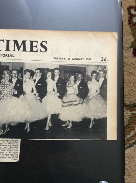 H5-1 ephemera 1961 picture article margate varley talbot dance hill bowden