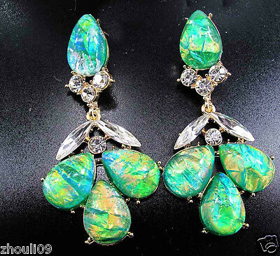 fashion show Lady Bib Statement crystal charms earrings fashion jewelry 7cm