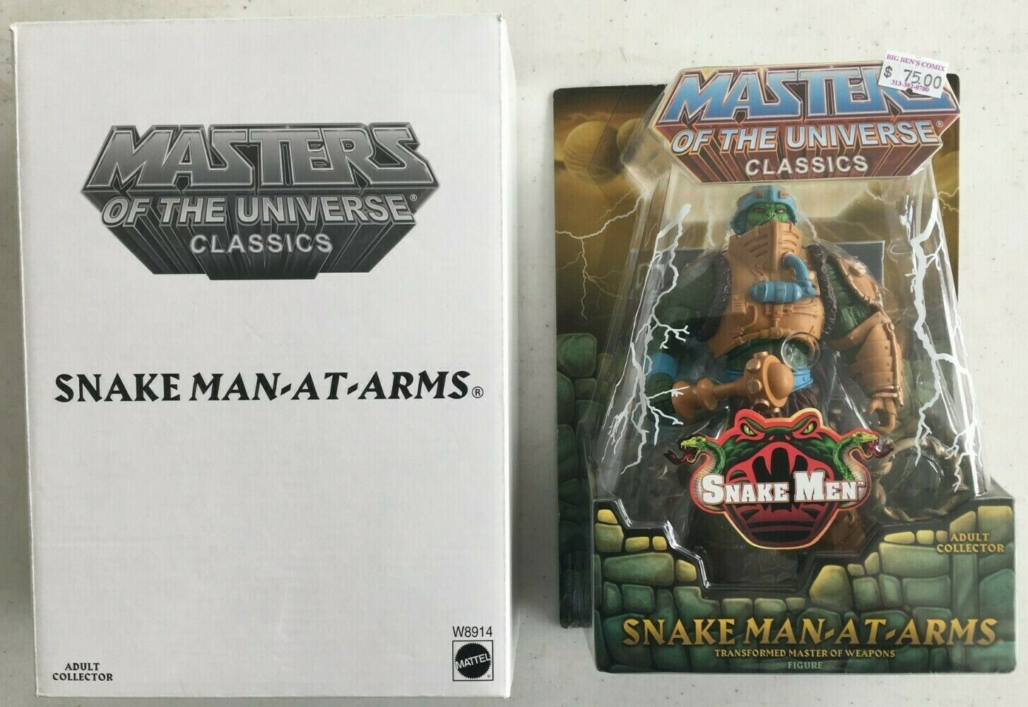 MASTERS OF THE UNIVERSE classeICS SNAKE uomo-AT-ARMS cifra HE-uomo MATTY SNAKE essi