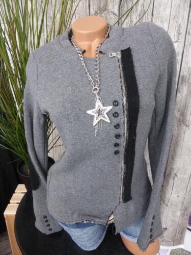 Blazer Gilet tricot Blazer taille 34 à 46 gris son Heine B.C 064