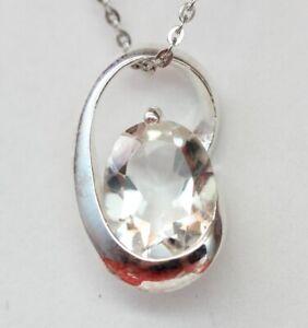 Edler-moderner-1-7-Carat-Bergkristall-Anhaenger-925-Silber-Collier