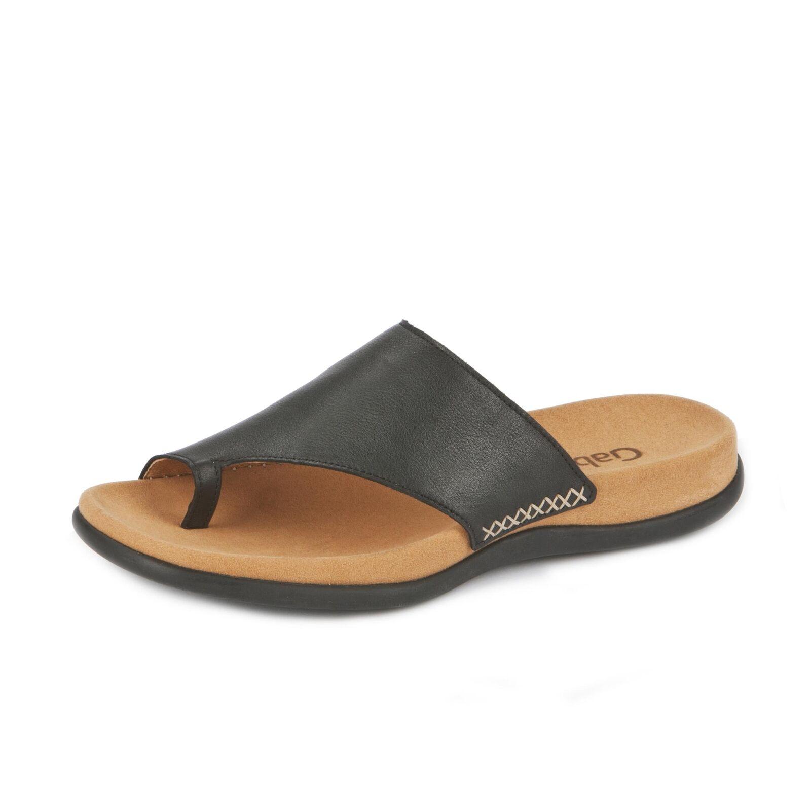 Gabor Damen Pantolette Schlupfschuhe Sommerschuh Zehentrenner Schuhe schwarz