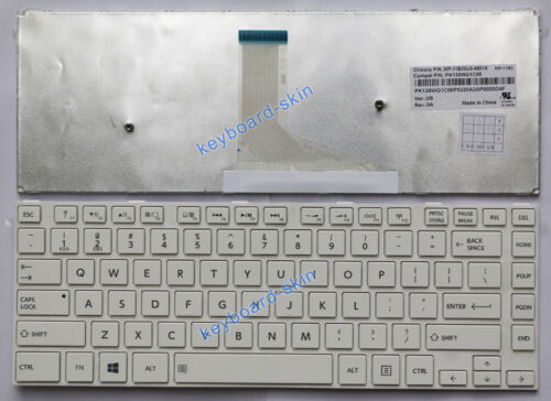 OEM New for Toshiba Satellite MP-11B23US-6981A PK130WG1C00 laptop Keyboard white