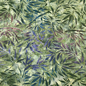 Robert-Kaufman-Batik-Fabric-AMD-19484-270-MEADOW-By-The-Half-Yard-Quilting