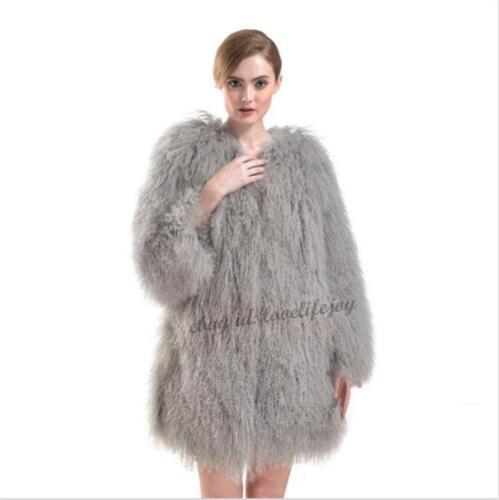 Womens Outwear Fur Long Trench Winter Coat Luxury Jacket Real Parka Warm q4wdH5Y