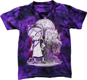 Gothic-Alice-au-pays-des-merveilles-T-shirt-Unisexe-Evil-Mad-nightmare-burton-Tie-Dye