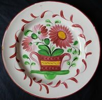 F4* Assiette ancienne en faïence de l'Est (Panier fleuri) Lunéville...