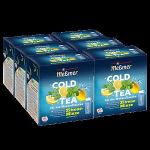 Meßmer Cold Tea Zitrone-Minze, 14 Pyramidenbeutel 6er Pack
