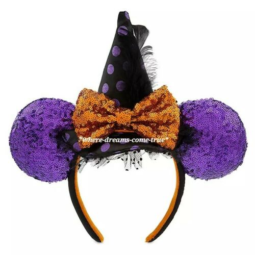 NEW Disney Parks 2019 Halloween Wicked Witch Minnie Mouse Ears Headband