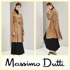 Massimo Dutti $545 limited edition taupe suede trench coat~S