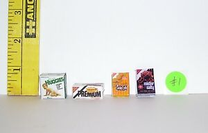 DOLLHOUSE  FASHION DOLL MINIATURE FOOD GROCERY BOXES ACCESSORY LOT # 7