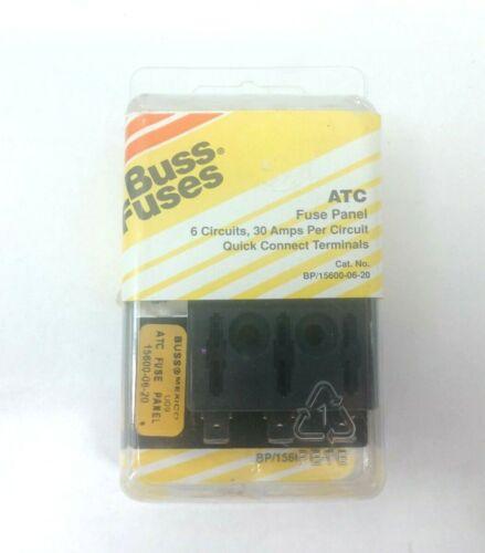 30 Amps per Circuit Fuse Block Bussmann 15600-06-20 6 Circuits