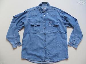 Mustang-Jeans-Hemd-Jeanshemd-Gr-L-Vintage-Western-Style-blue-Denim-RAR