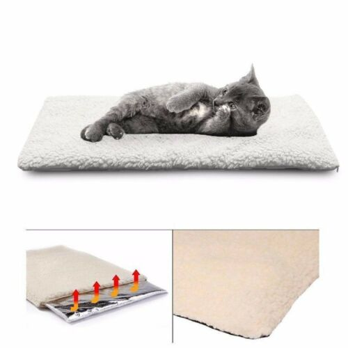 Large Self Heating Dog Bed Mat Soft Warm Pet Cat Rug Thermal Washable Pad W1R