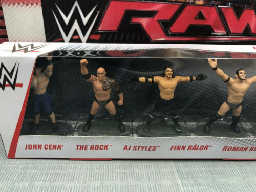 WWE Mattel Collector Pack 5 Mini Wrestling Figure Statues Toy Lot NEUF