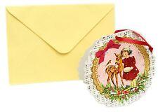 Mini Advent Calendar Christmas Card Decoration - Girl with Deer